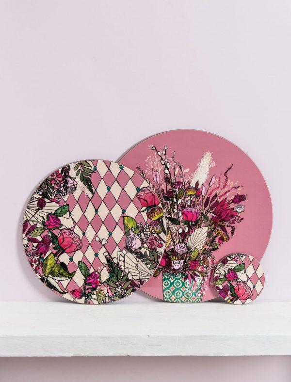 pink blooms set