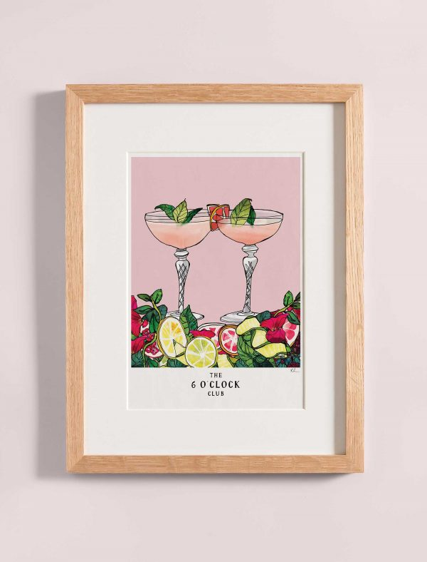 katie cardew print 6 o clock club cocktails