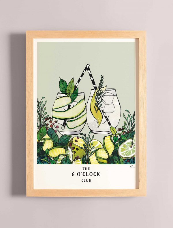 katie cardew print 6 o clock club gin