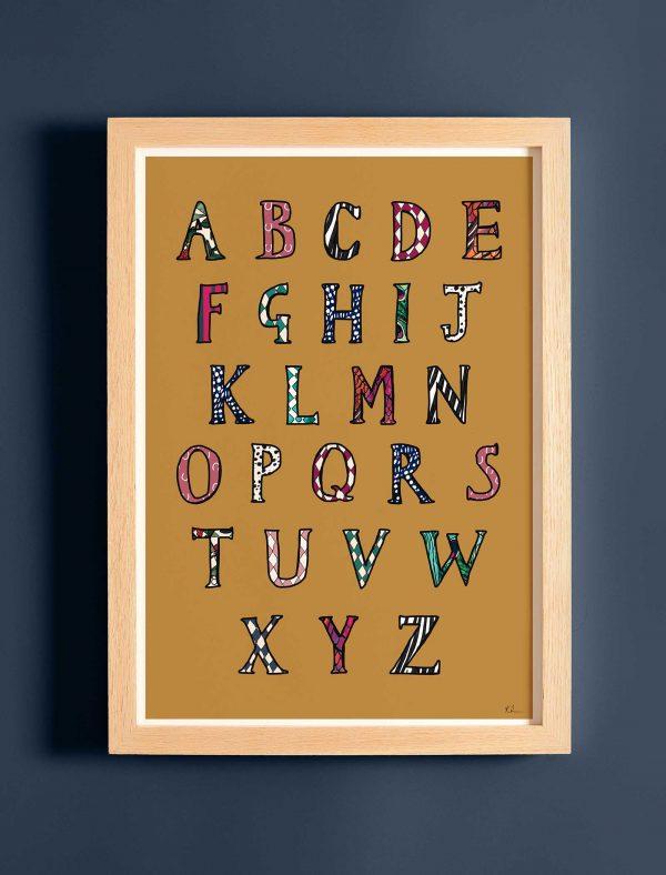 katie cardew fine art print alphabet