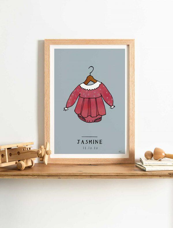katie cardew personalised baby girl print