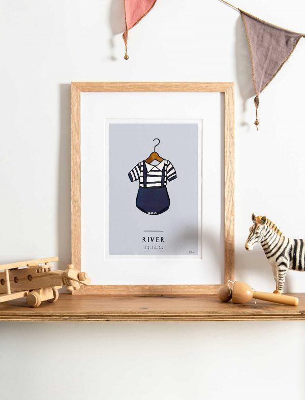 katie cardew personalised baby sailor print