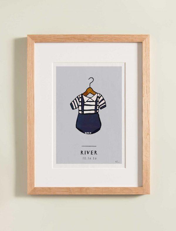 katie cardew personalised sailor nursery print