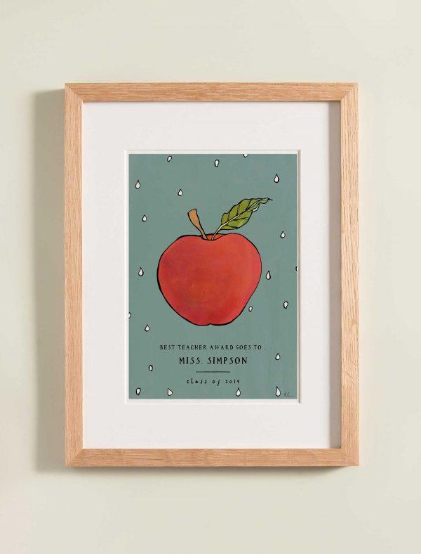 katie cardew personalised thankyou teacher print