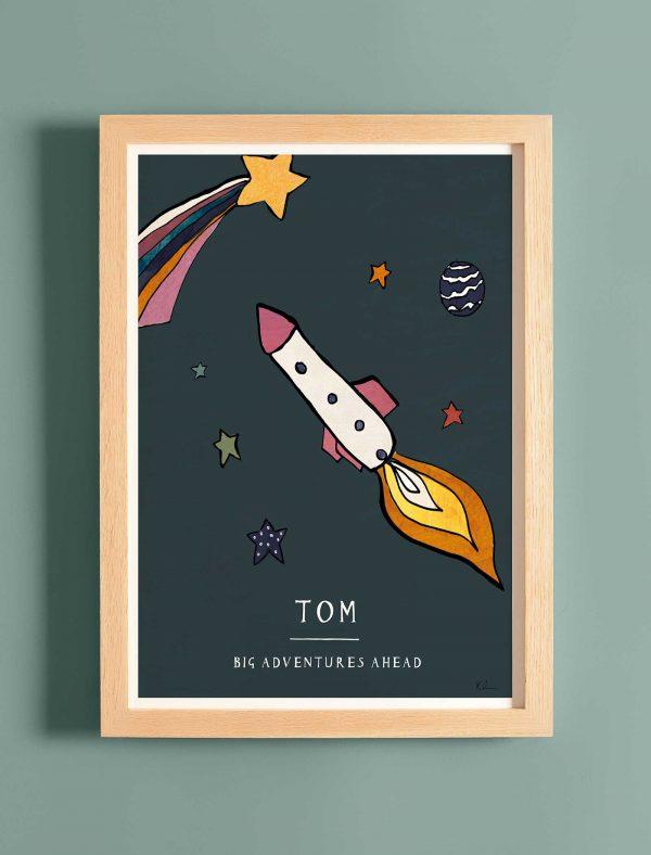 katie cardew personalised big adventures nursery print
