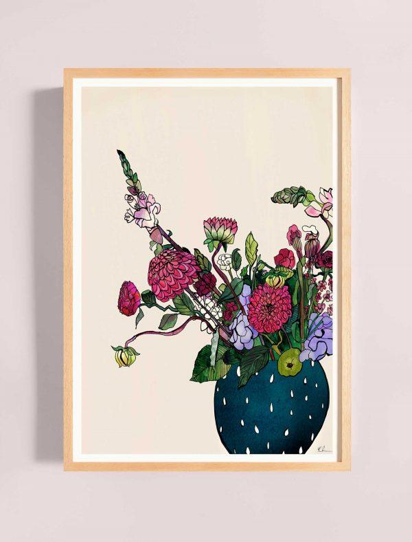 katie cardew summer blooms print