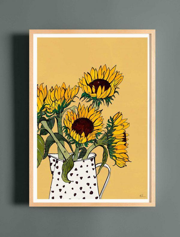 katie cardew sunflowers print