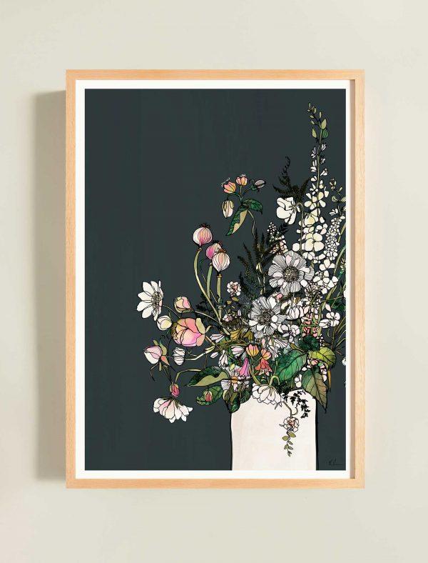 katie cardew print white blooms