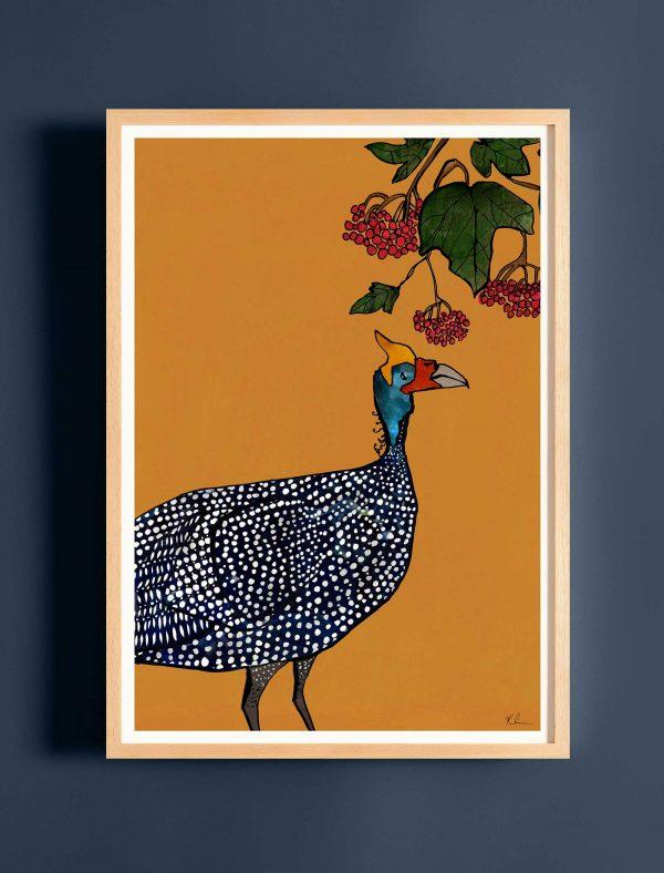 katie cardew print guinea fowl
