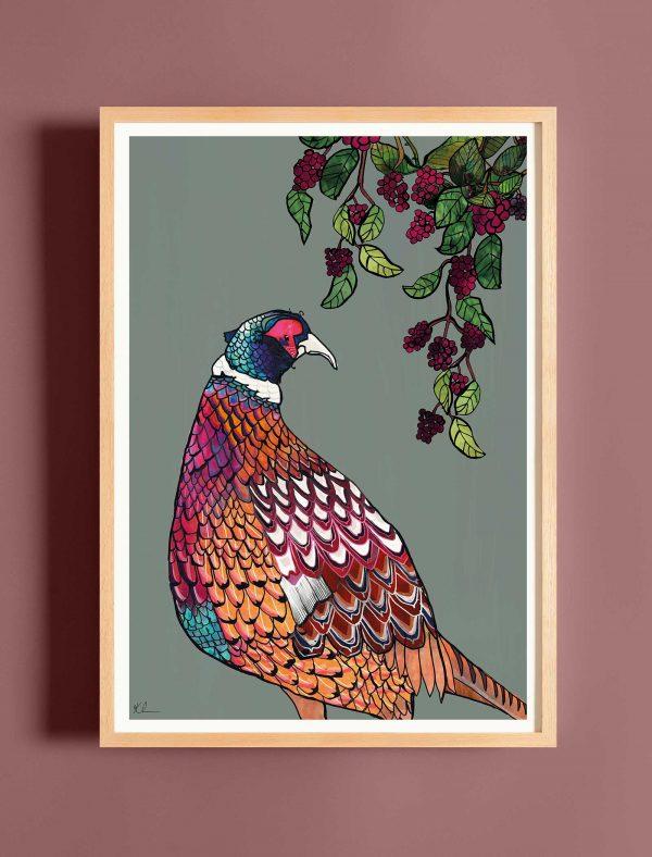 katie cardew print pheasant