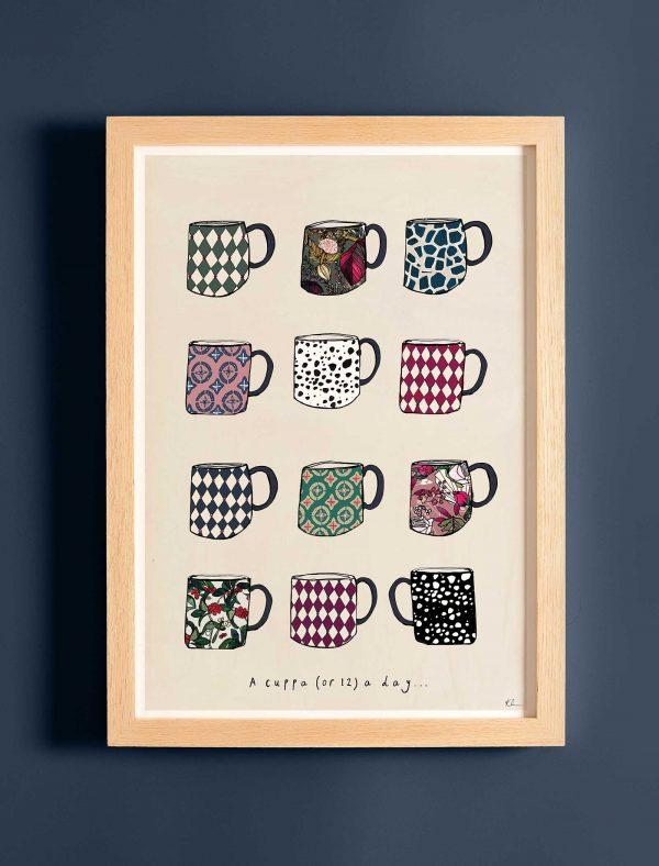 katie cardew print a cuppa a day