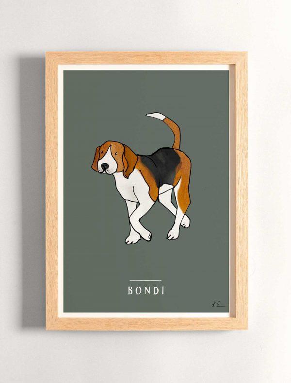 katie cardew personalised beagle print