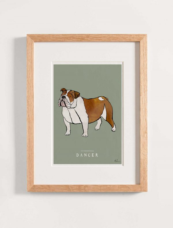 katie cardew personalised bulldog print