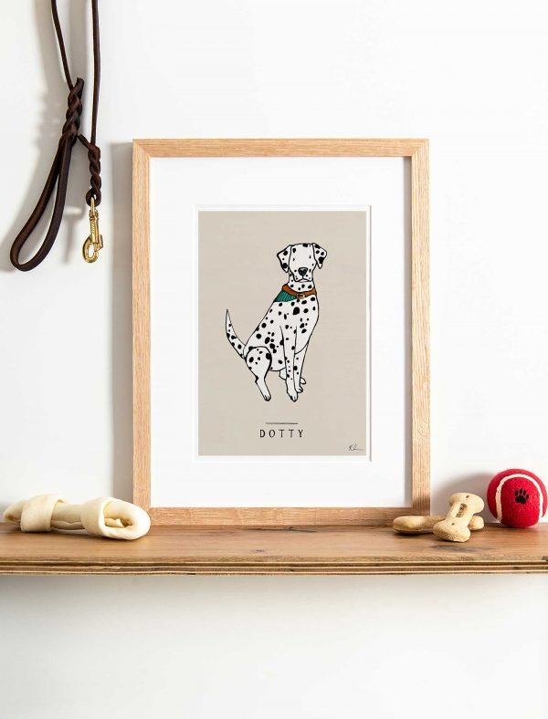 katie cardew personalised Dalmatian print