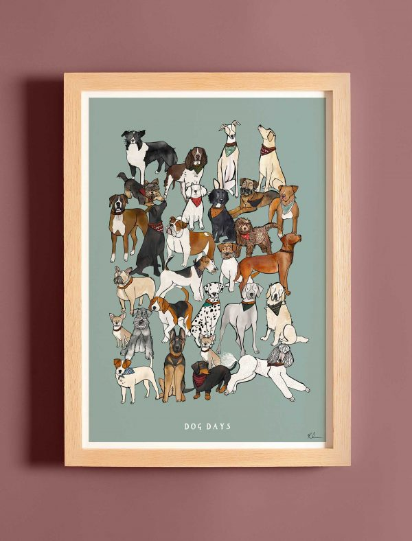 katie cardew dog days print