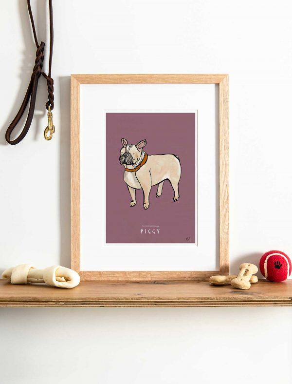 katie cardew personalised french bulldog print