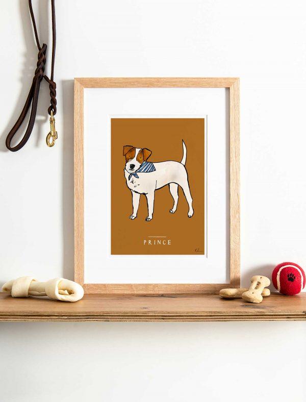 katie cardew personalised jack russell print