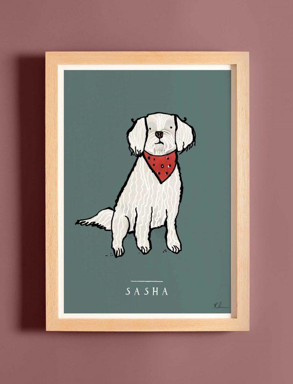 katie cardew personalised maltese terrier print