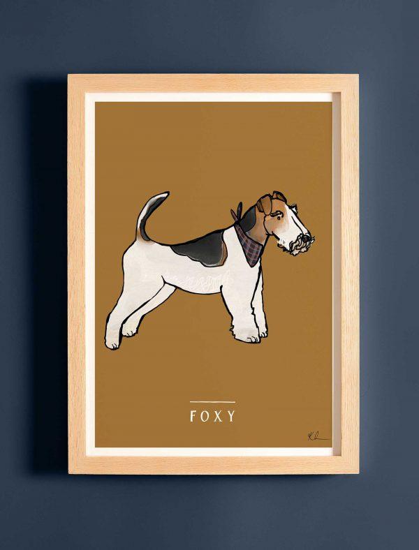 katie cardew personalised wire fox terrier print