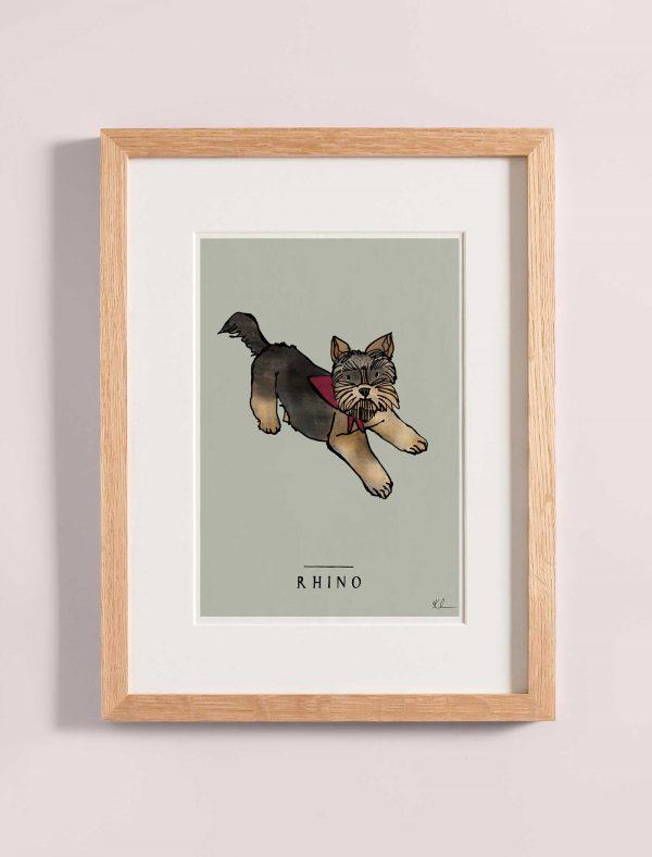 katie cardew personalised yorkshire terrier print