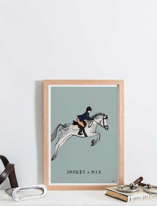 katie cardew personalised horse print