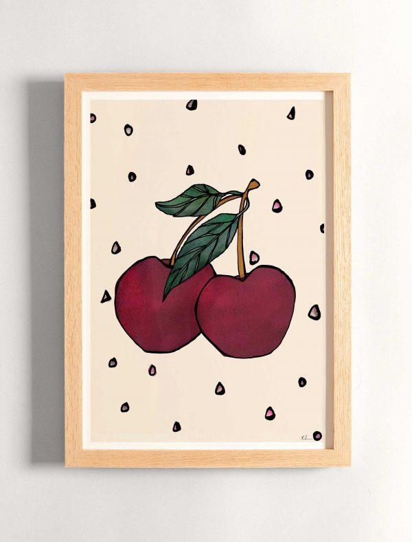 katie cardew print cherries
