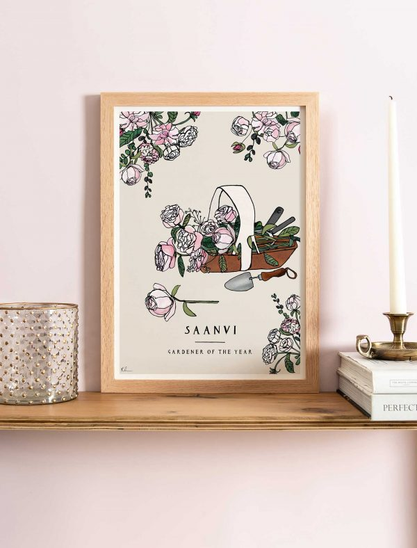katie cardew personalised gardener print