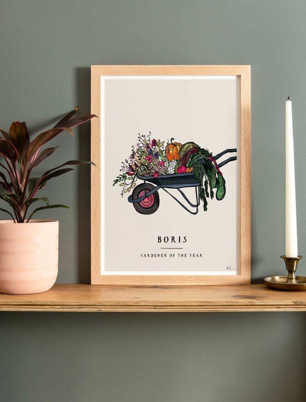 katie cardew personalised gardening print