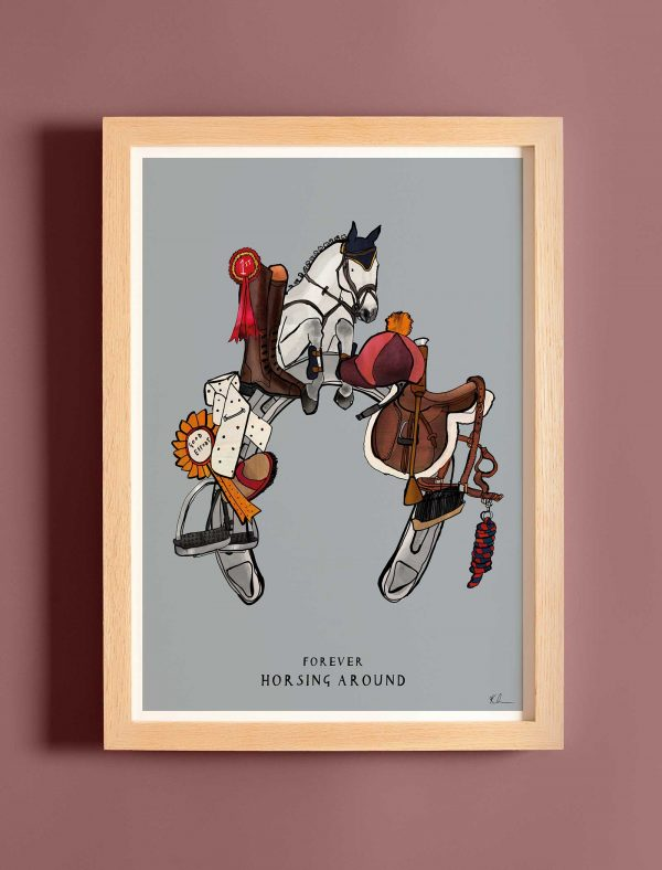 katie cardew print horsing around