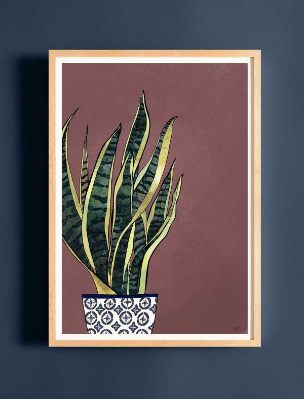 katie cardew print snake plant