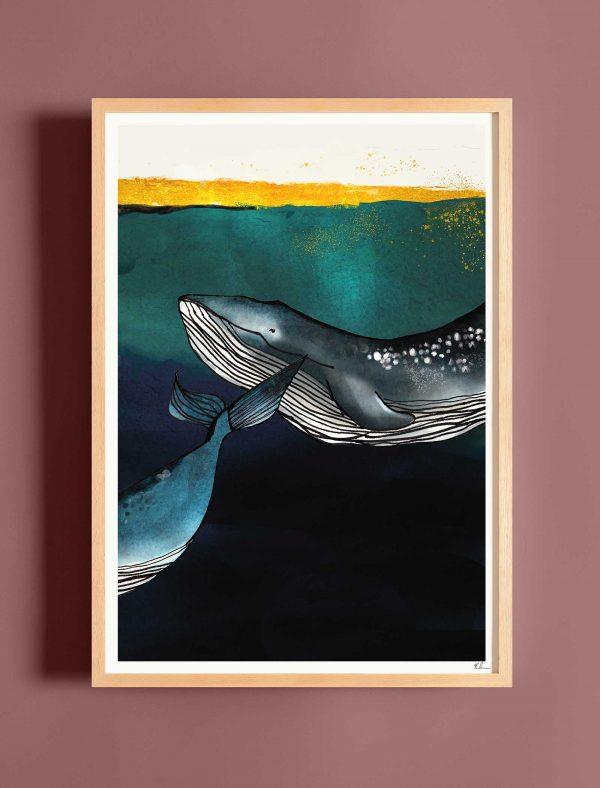 katie cardew print whales