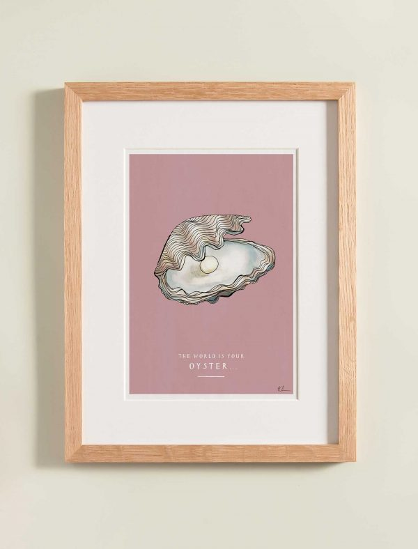 katie cardew personalised print the world is your oyster