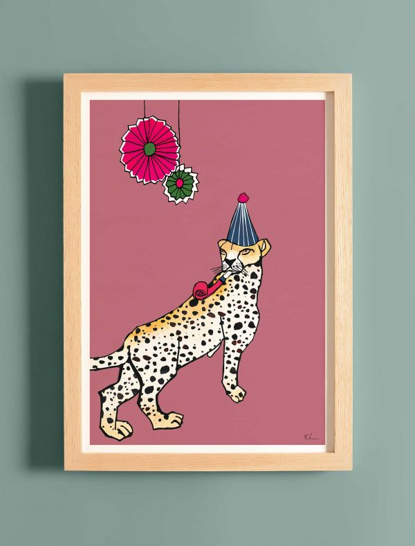 katie cardew print this party got wild cheetah
