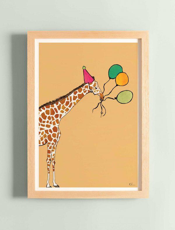 katie cardew print this party got wild giraffe