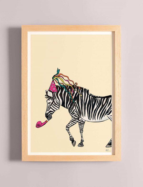 katie cardew print this party got wild zebra