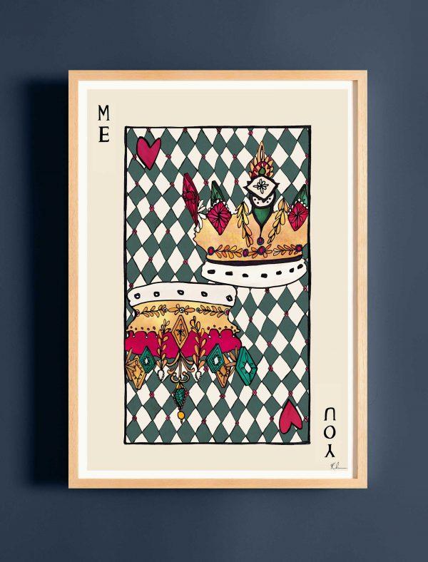 katie cardew print playing card