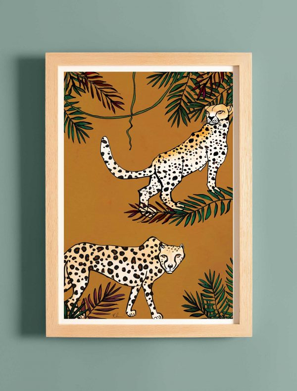 katie cardew print savannah cheetah