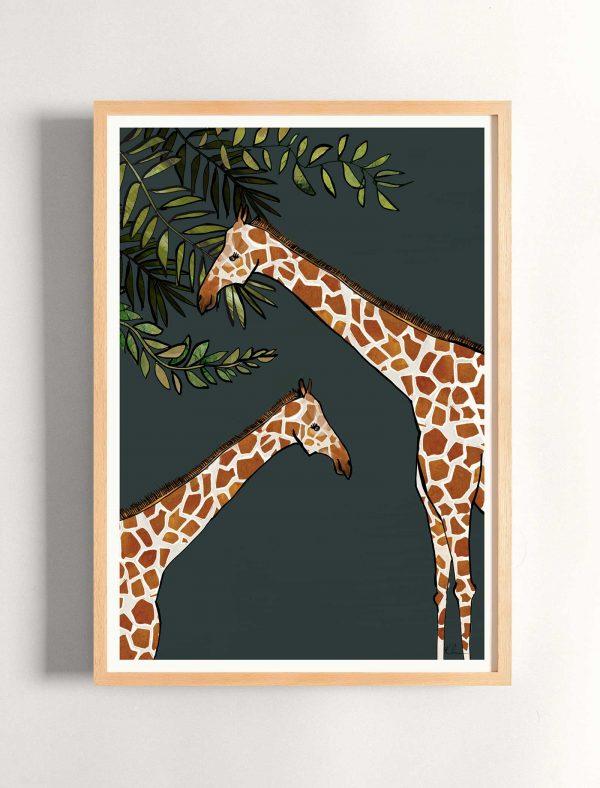 katie cardew print savannah giraffe