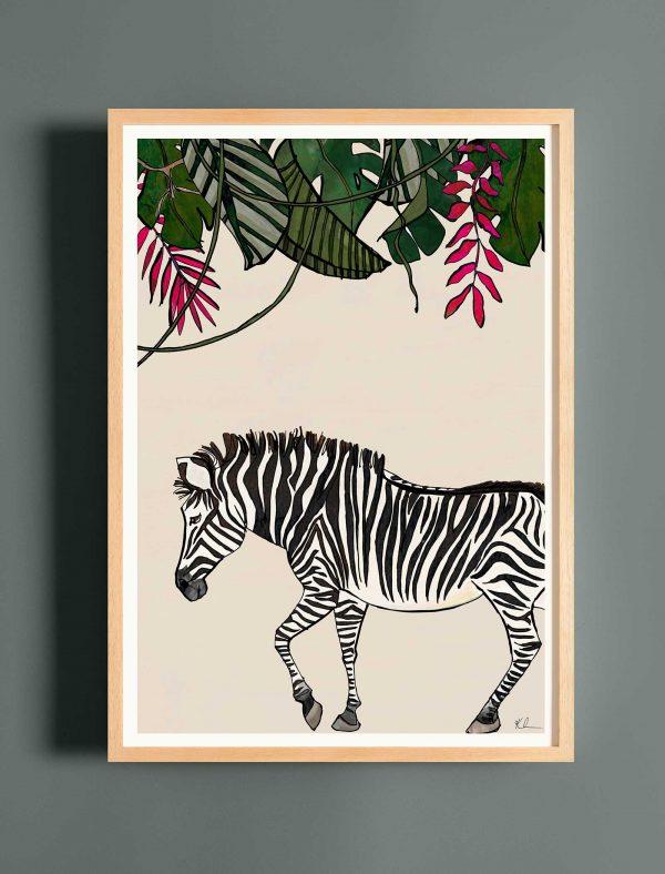katie cardew print savannah zebra