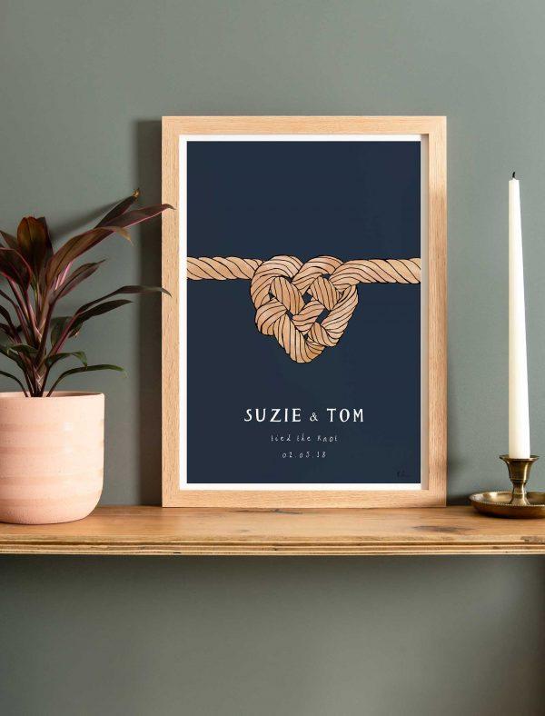 katie cardew personalised wedding fine art print