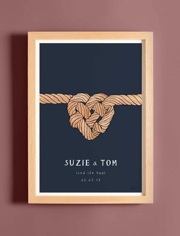 katie cardew personalised wedding print