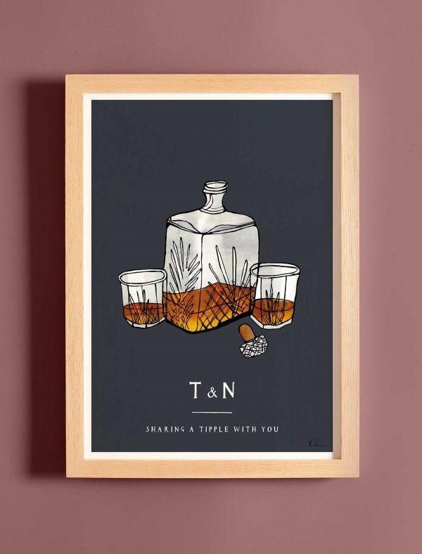katie cardew personalised whisky print