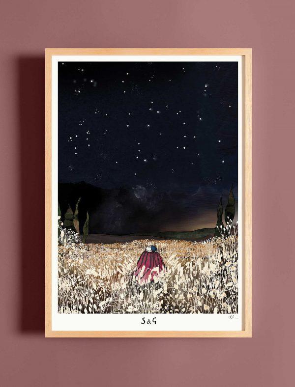 katie cardew under the stars print