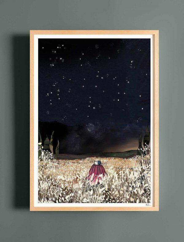 katie cardew print under the stars