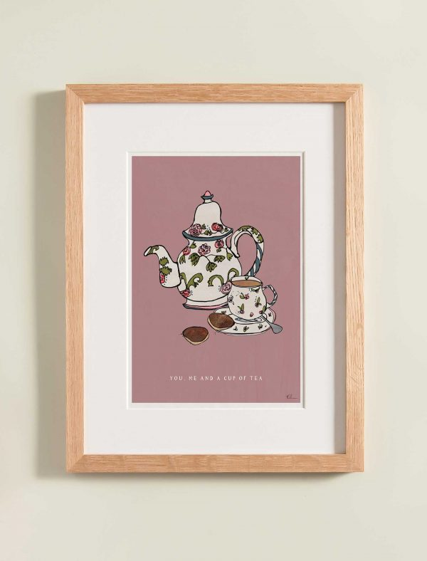 katie cardew print you me and cup of tea