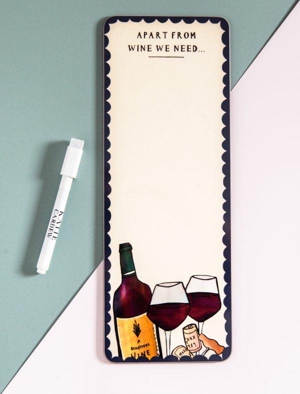 katie cardew magnetic fridge board wine