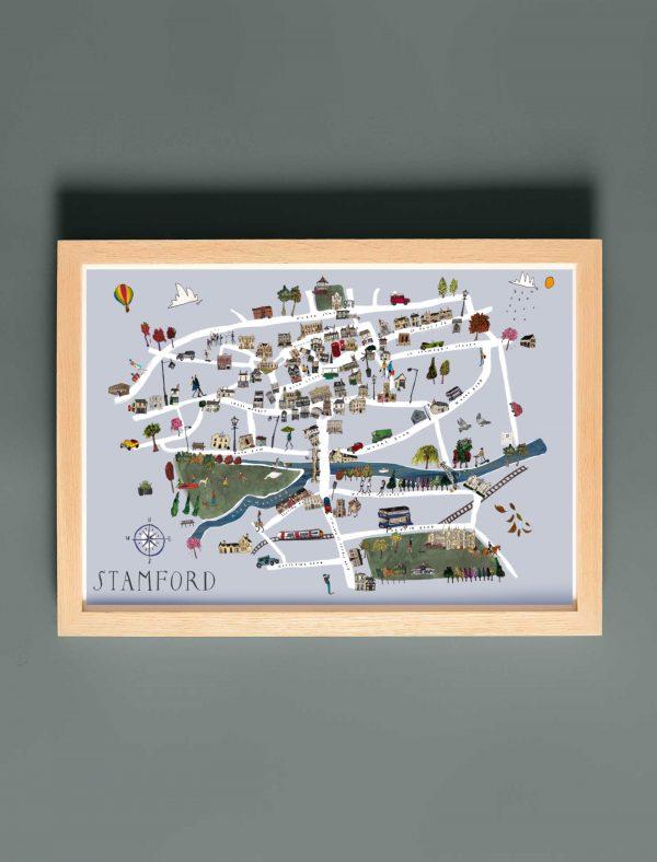 stamford map green