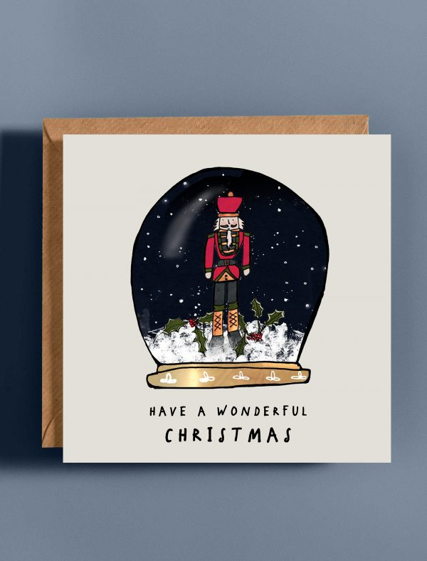 card christmas snowglobe